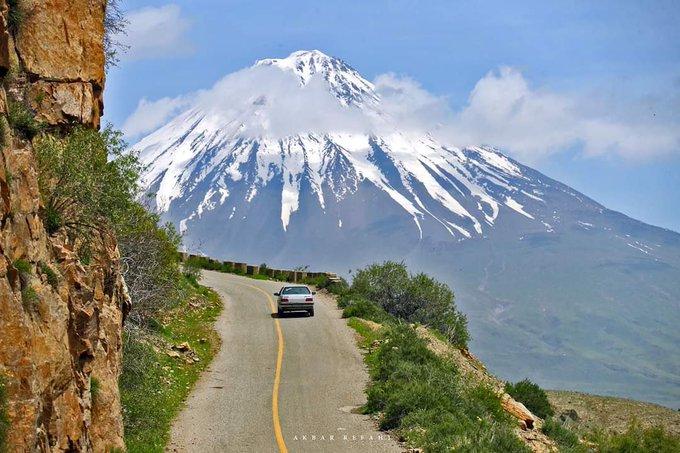 تصویر شگفت انگیز از جاده کوهستانی مرز ایران و ترکیه+عکس