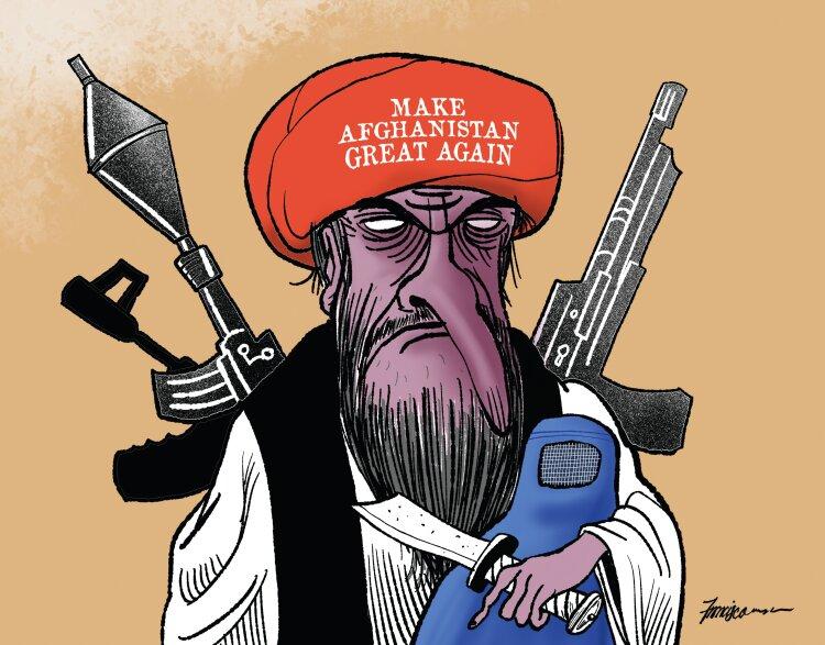 شباهت باورنکردنی ترامپ و طالبان+عکس