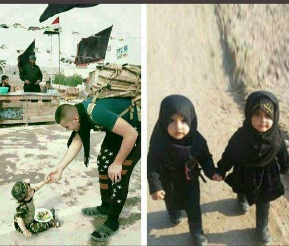 کوچک ترین خادم امام حسین (ع) در پیاده روی اربعین+عکس