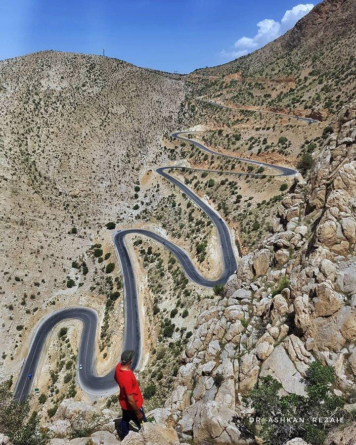 پر پیچ و خمترین جاده ایران را ببینید+عکس