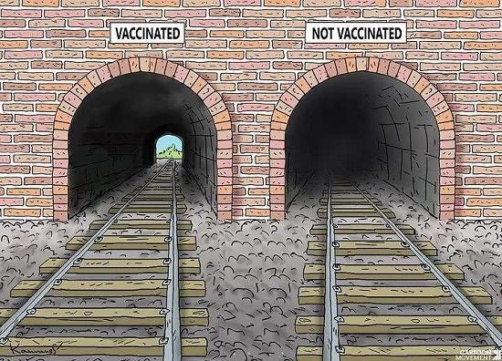 کسانی که واکسن کرونا نمی زنند، این تصویر را ببینند+عکس