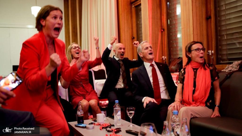 ذوق زدگی حزب کارگر نروژ پس از پیروزی+عکس