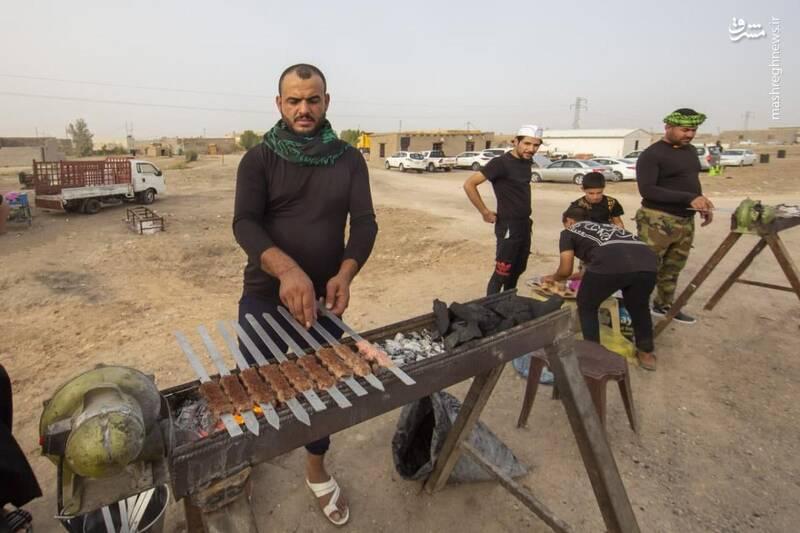 کباب داغ برای زائران امام حسین (ع)+عکس