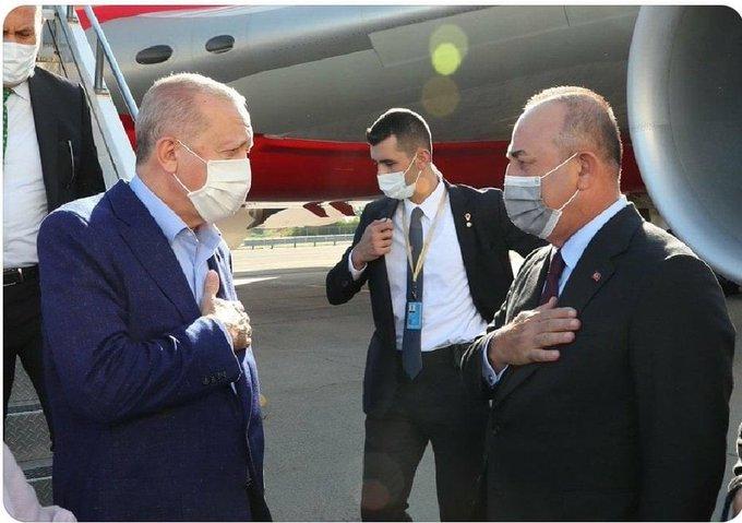 تصویر خفت بار از اردوغان در فرودگاه آمریکا+عکس