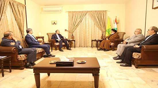 لحظه دیدار وزیر جدید امورخارجه ایران با سید حسن نصرالله+عکس