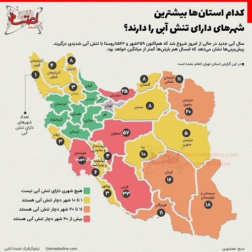 این استان ها بیشترین تنش آبی را دارند+عکس