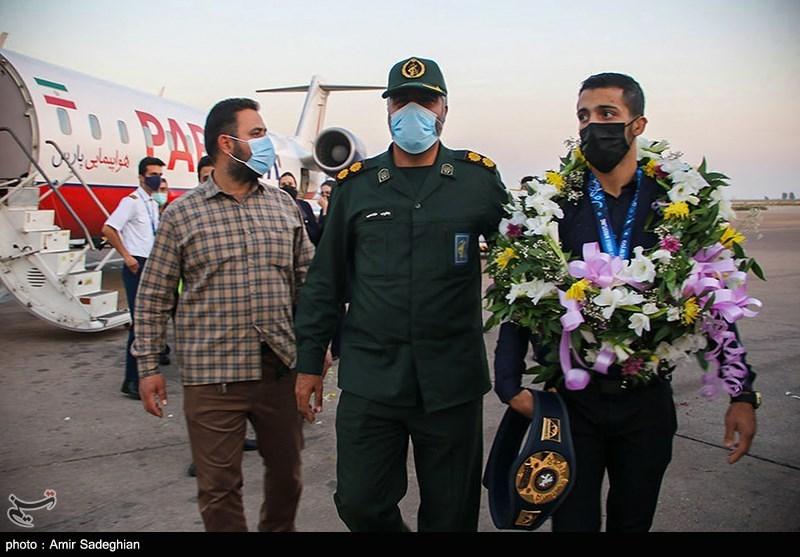 مراسم استقبال از قهرمانان مسابقات جام جهانی کشتی فرنگی شیراز
