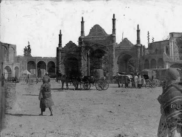 شکل و شمایل دروازه دولت در دوره قاجار / عکس