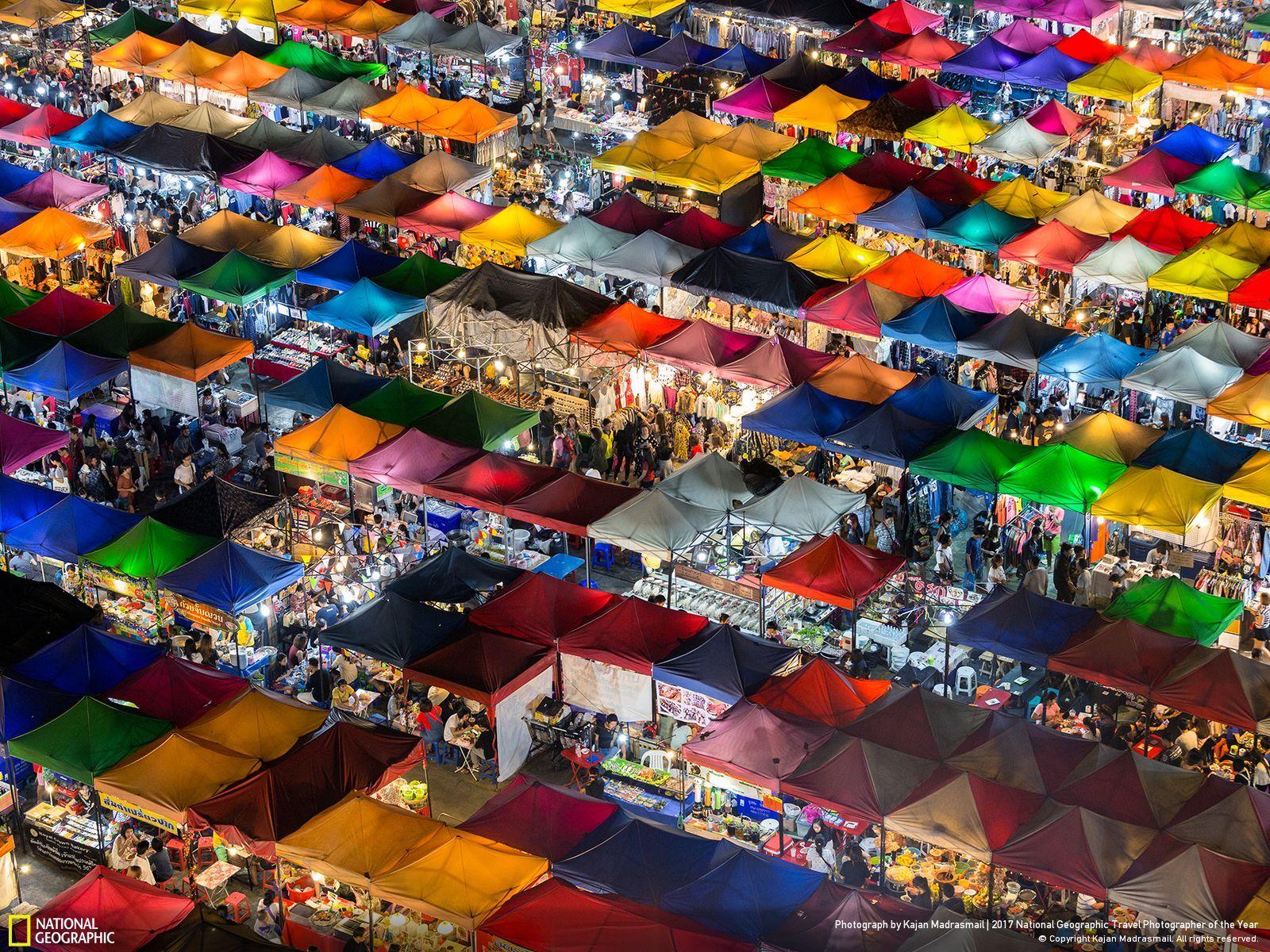 بازار رنگارنگ؛ عکس منتخب نشنال جئوگرافیک