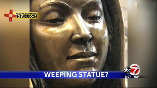 مجسمه مریم مقدس اشک میریزد! / عکس