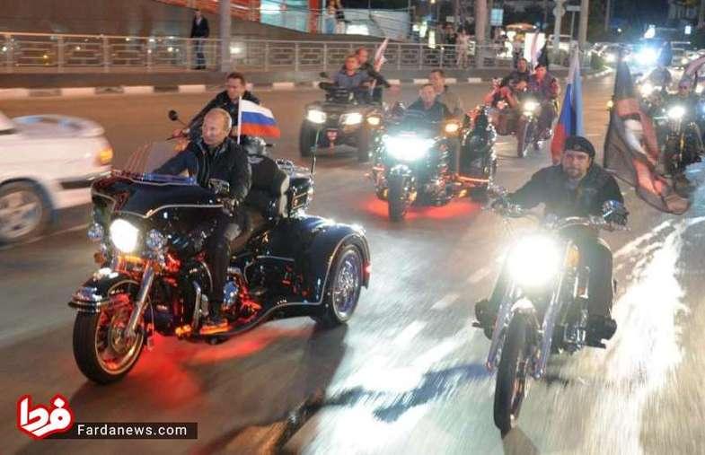 موتور سواری خاص پوتین+عکس