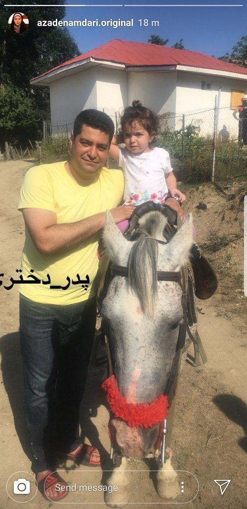 عکس: گردش همسر و دختر «آزاده نامداری»