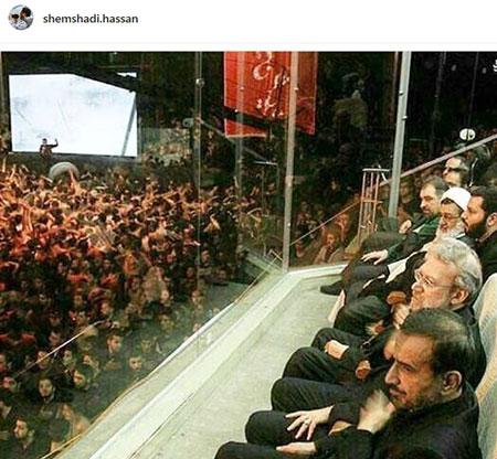انتقاد از علی لاریجانی بخاطر یک عکس حاشیه ساز