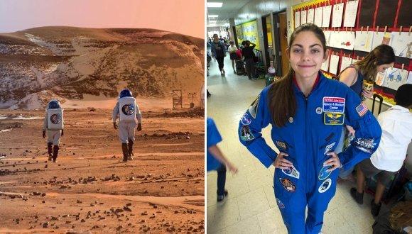 دختری ۱۷ ساله که به مریخ سفر خواهد کرد +عکس
