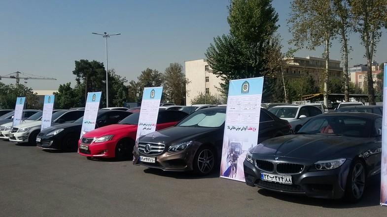 توقیف ۵۵ خودروی بچه پولدارها به علت دور دور +عکس