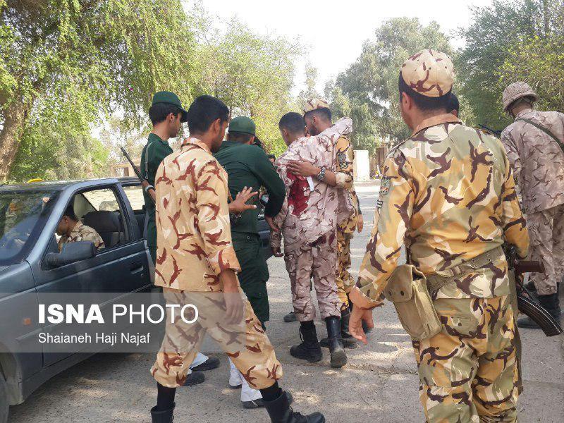 سرباز سپاه مجروح شده در جریان رژه +عکس