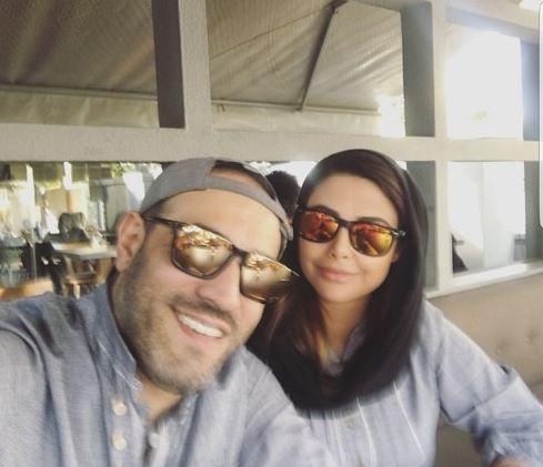 عکس: آقازاده «داریوش ارجمند» در کنار همسرش