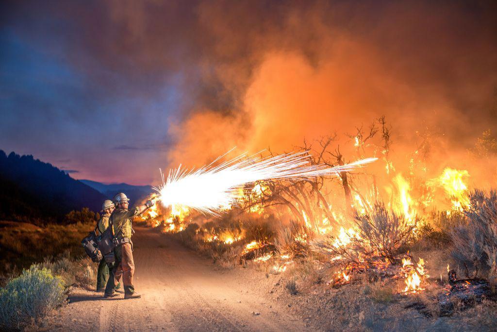 عکس روز نشنال جئوگرافیک؛ مبارزه با آتش