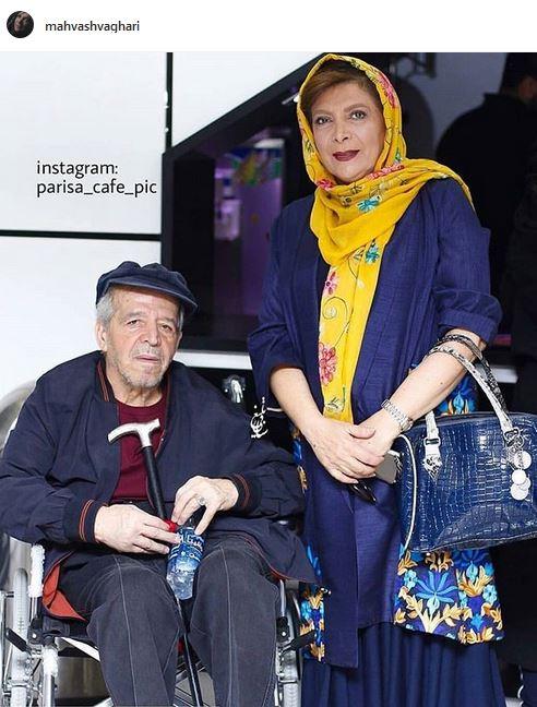 عکس: بازیگر زن ایرانی در کنار همسر بیمارش