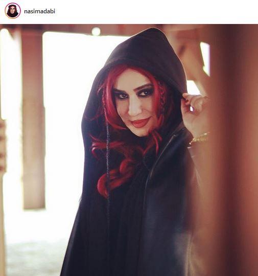 عکس:  «نسیم ادبی» هم به جمع مو قرمزها پیوست!