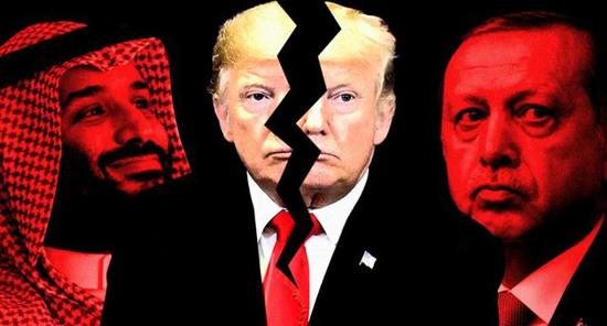 ترامپ گرفتار میان اردوغان و بن سلمان