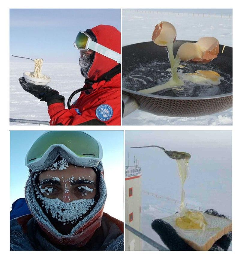 صبحانه در دمای منفی ۷۰ درجه +عکس