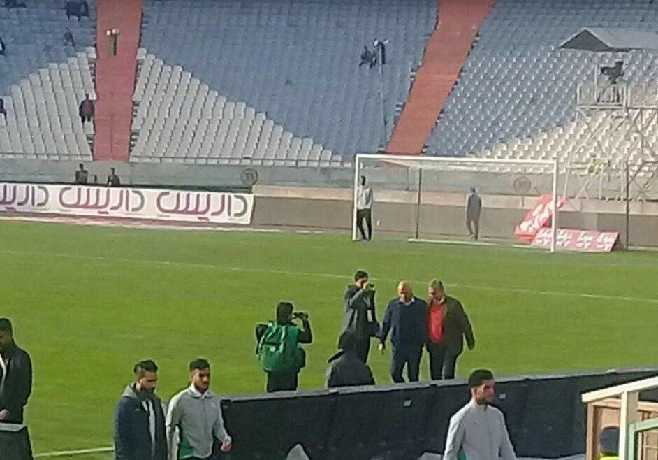 دیدار عاشقانه منصوریان و برانکو در استادیوم آزادی+عکس