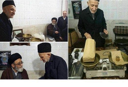 امام جمعه تبریز در مغازه پیرمرد خبرساز +عکس