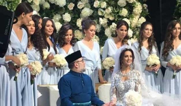 پایان عجیب ازدواج پادشاه مالزی با ملکه زیبایی روس +عکس