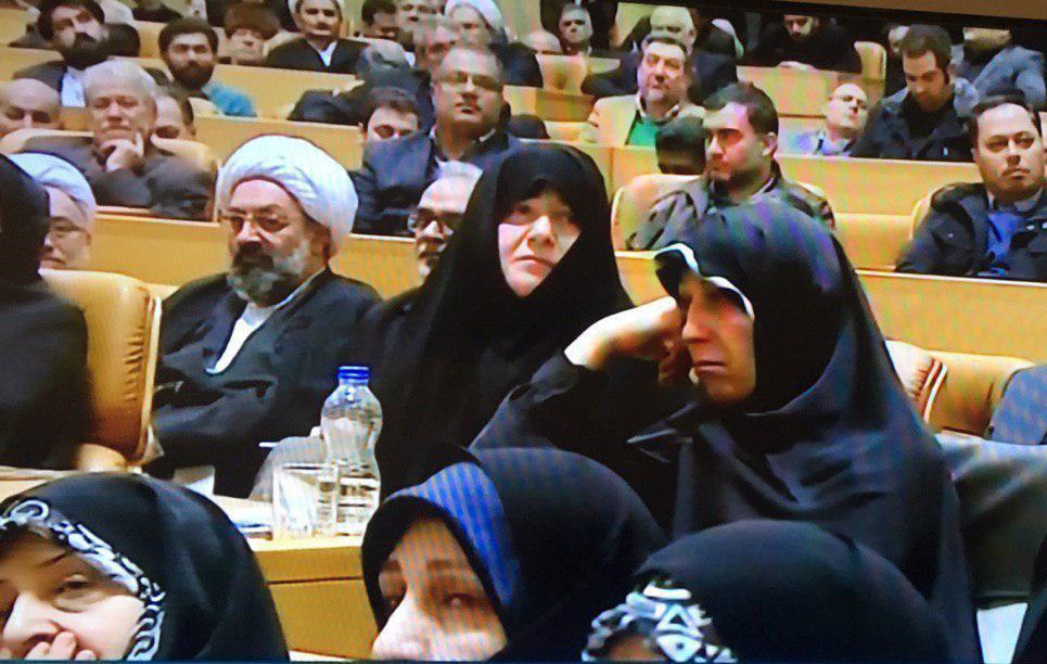 چهره غمگین فاطمه هاشمی در مراسم سالگرد آیت الله هاشمیرفسنجانی +عکس