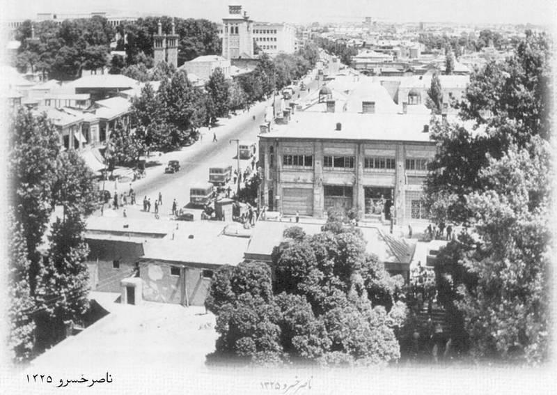 تصویری دیدنی از خیابان ناصر خسرو تهران  در سال ۱۳۲۵ +عکس