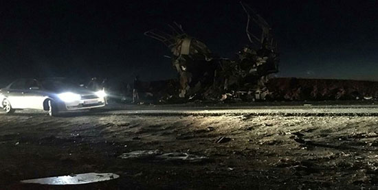 حمله انتحاری به اتوبوس سپاه در سیستان و بلوچستان+عکس