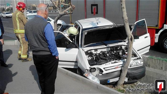 حال و روز پراید بعد از تصادف با درخت! +عکس