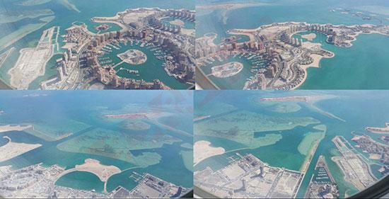 قطر در حال خشکاندن خلیج فارس برای افزایش خاکش +عکس