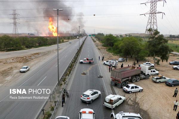 آتشسوزی مرگبار در خط لوله گاز اهواز +عکس