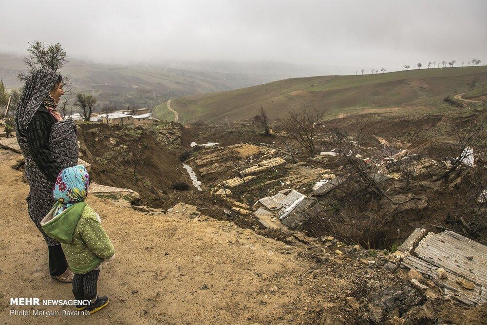 رانش زمین و ریزش کوه خانههای مردم  را خراب کرد +عکس