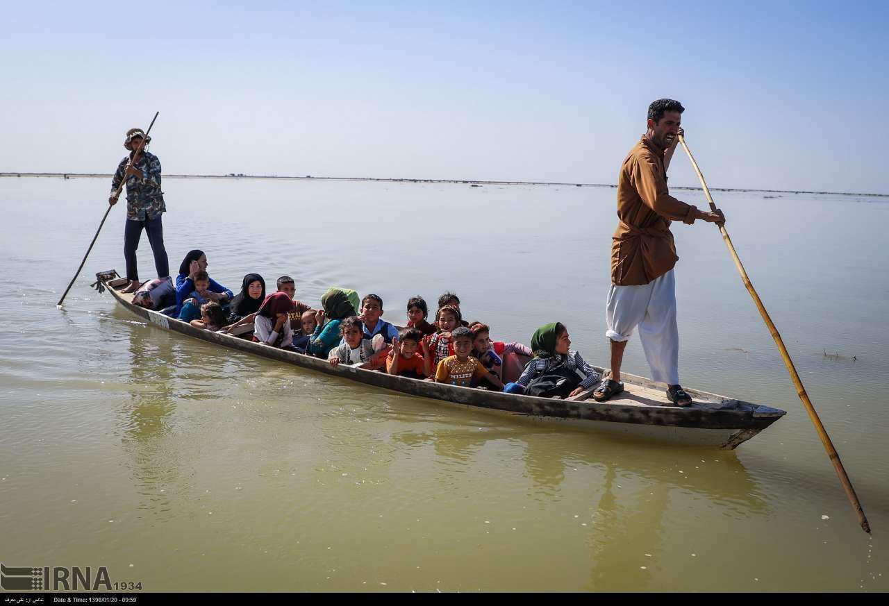 انتقال خطرناک کودکان خوزستانی + عکس
