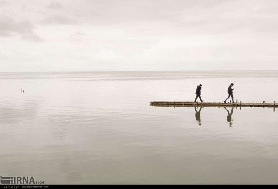 دریاچه ارومیه پر آب و زیبا شد +عکس