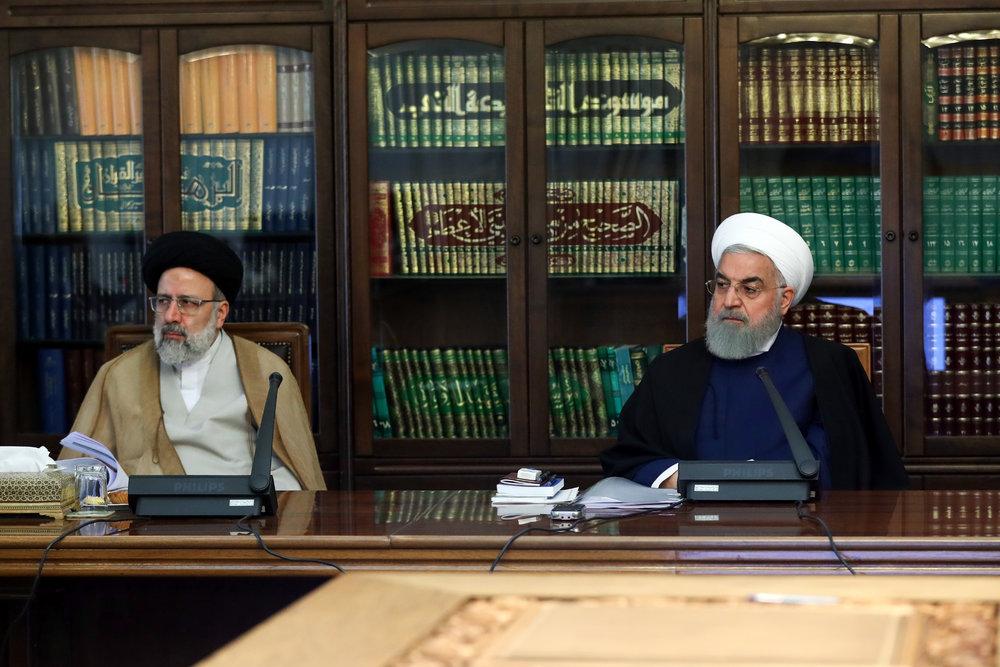 اولین جلسه مشترک روحانی و رئیسی +عکس