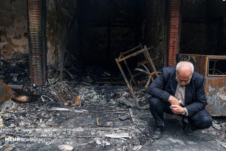تصویری تلخ از آتش سوزی بازار تبریز +عکس