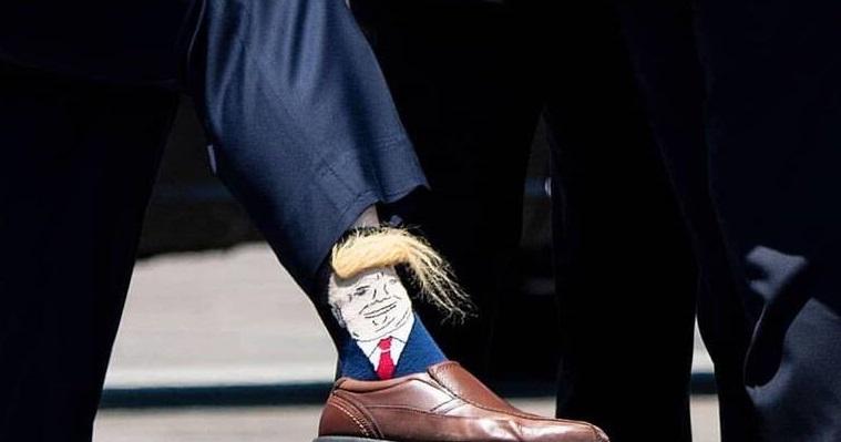جوراب با طرح و موهای ترامپ +عکس