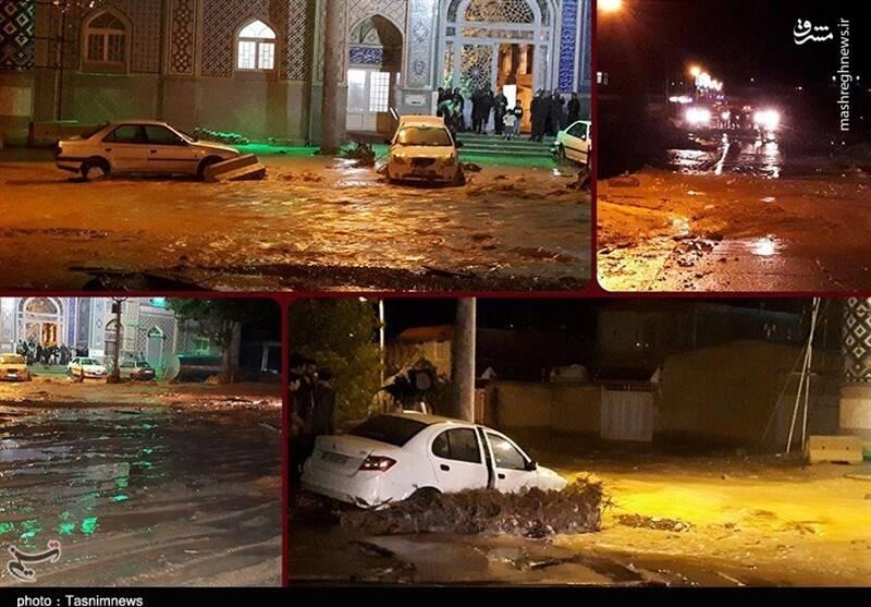 سیلاب مرگبار در مشهد اردهال + عکس