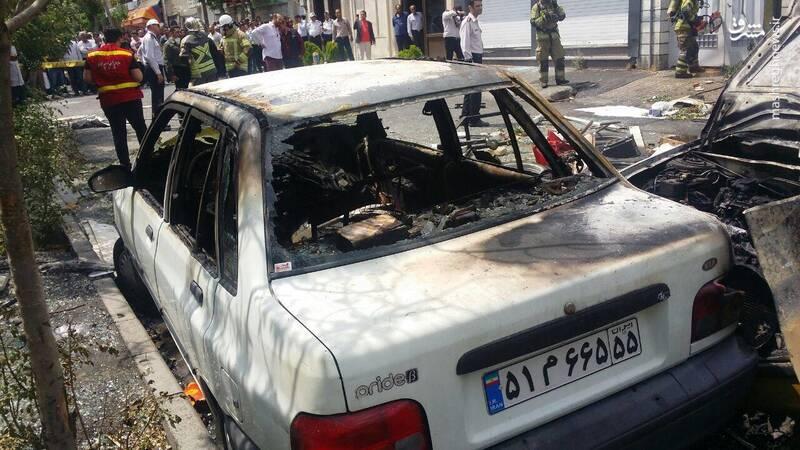 انفجار مرگبار در تعمیرگاه خودرو در تهران + عکس