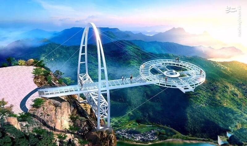 ترسناکترین پل شیشهای جهان +عکس