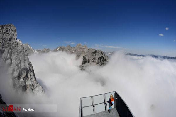 تصاویر دیدنی از سفر بر فراز ابرها
