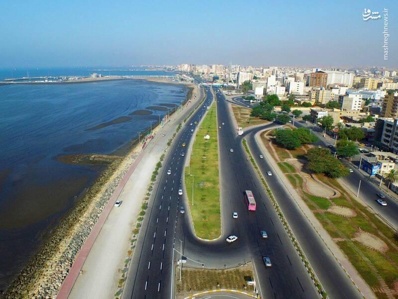 نمایی زیبا از خیابان ساحلی بندرعباس +عکس