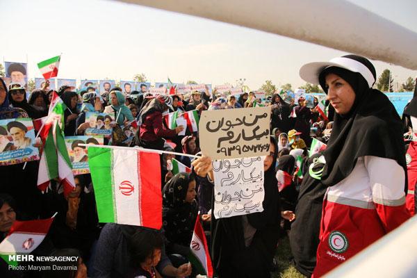 درخواستهای مردم از رئیس جمهور در سفر به بجنورد +عکس
