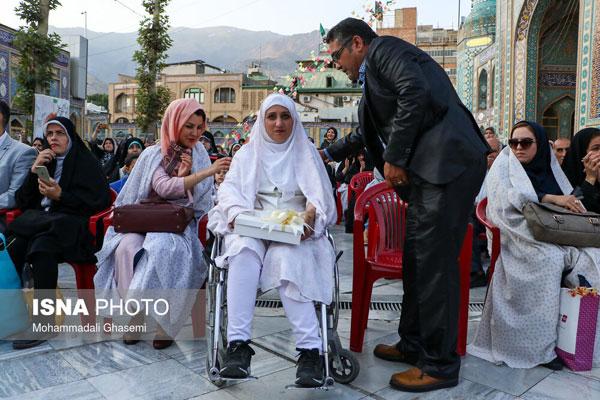 ازدواج هشت زوج معلول در امامزاده صالح +عکس