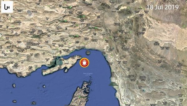 موقعیت نفتکشِ توقیفشده توسط سپاه روی نقشه +عکس