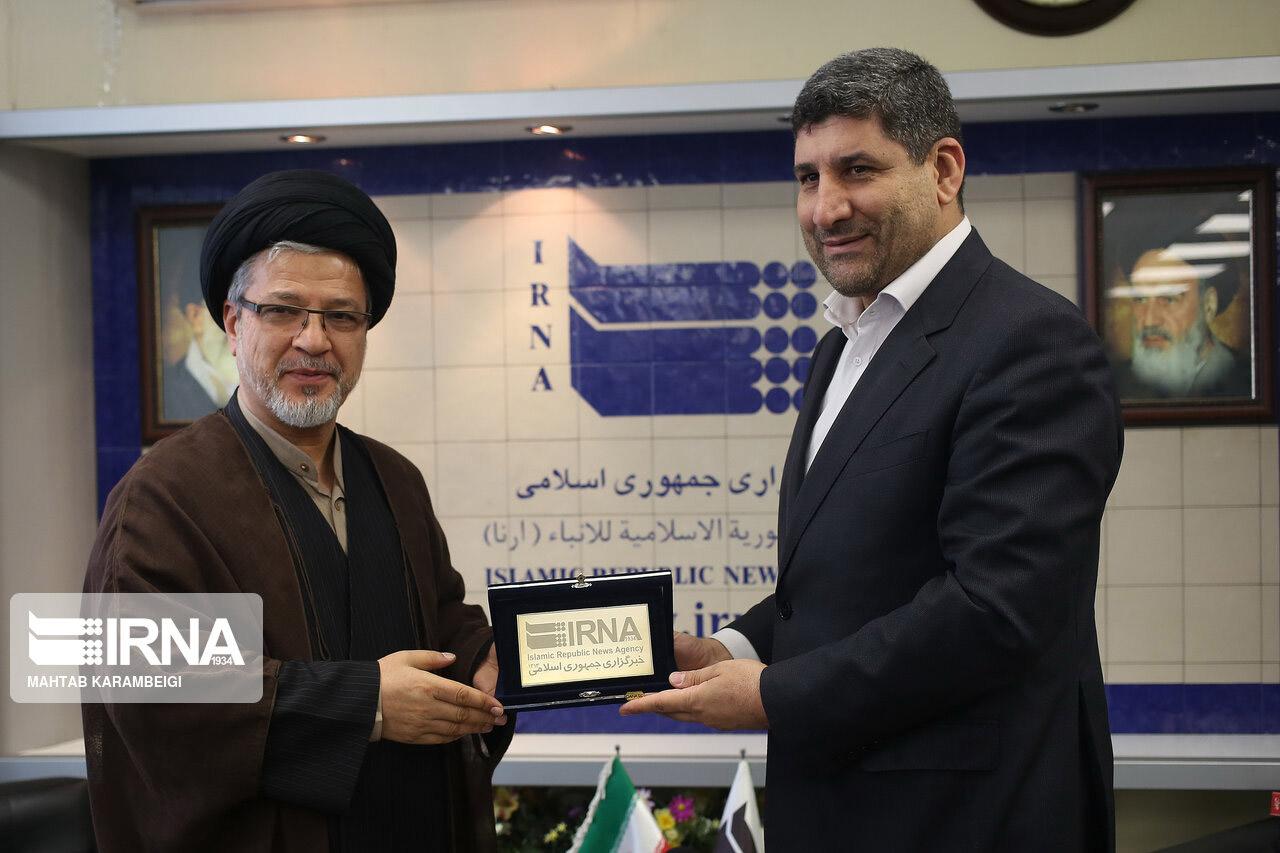 گزارش تصویری/حضور دبیر شورای عالی انقلاب فرهنگی در ایرنا